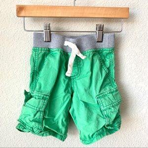 Gymboree boys green cargo shorts - 3t